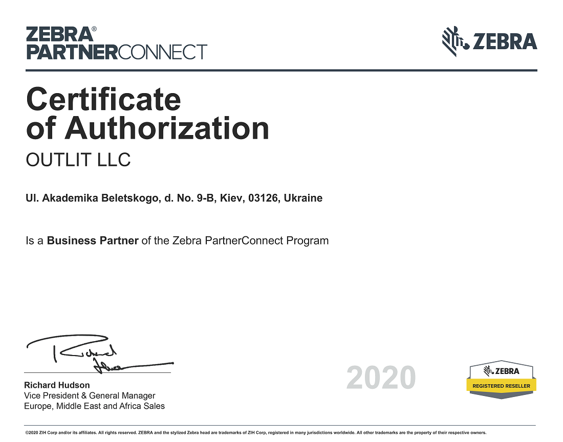 Certificate of Authorization 2020 01 24